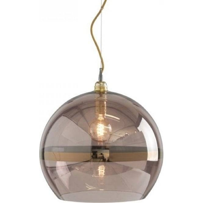 Copper Coloured Glass Globe Ceiling Pendant Light On Gold Wire Cable In Coloured Glass Pendant Light (#9 of 15)