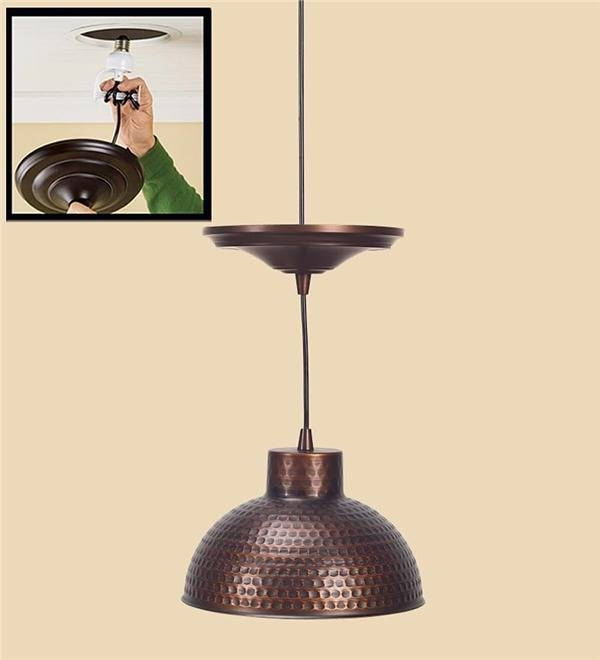 Popular Photo of Hammered Copper Pendant Lights