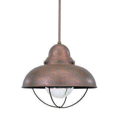 Copper – Pendant Lights – Hanging Lights – The Home Depot Within Hammered Copper Pendant Lights (#9 of 15)