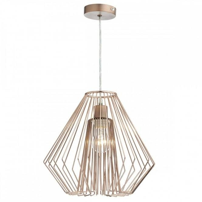 Copper Wire Frame Non Electric Ceiling Pendant Shade Inside Non Electric Pendant Ceiling Lights (#13 of 15)