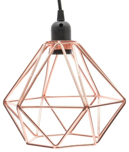 Copper Wire Pendant Light Pertaining To Corded Pendant Lights (#5 of 15)