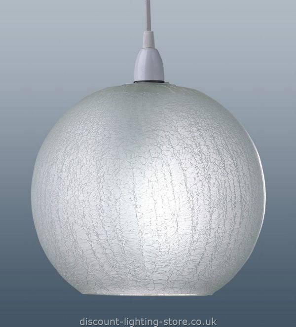 Crackle Glass Pendant Light Shade – Ceiling Shades Buy Pendant Inside Glass Pendant Lights Shades Uk (#6 of 15)