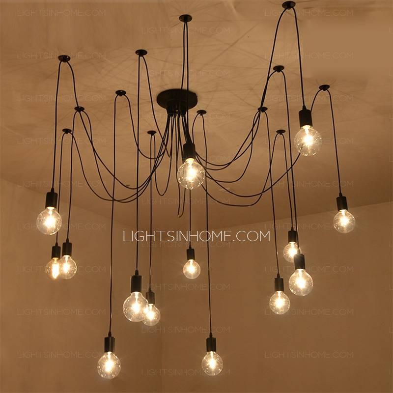 Creative 14 Light Bar Pendant Lights In Black Wrought Iron Intended For Wrought Iron Light Pendants (View 10 of 15)