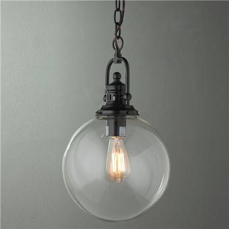 Creative Of Sphere Pendant Light Clear Glass Globe Industrial Regarding Glass Sphere Pendant Lights (View 5 of 15)