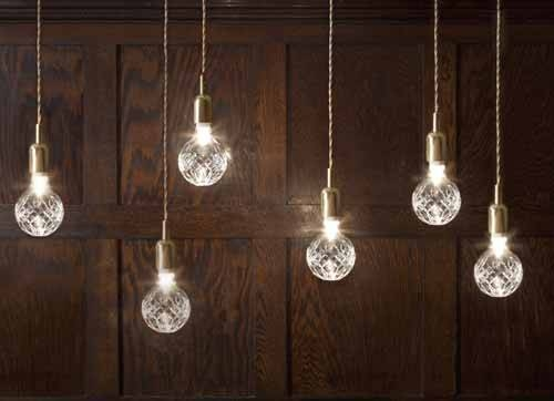 Crystal Lighting Fixtures, Exposed Crystal Bulb Lighting From Lee With Regard To Exposed Bulb Pendants (#4 of 15)