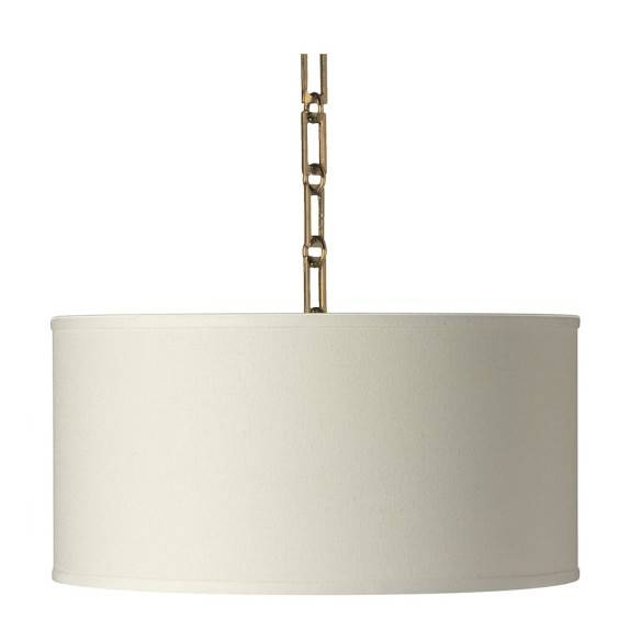 Custom Linen Drum Pendant, White | Williams Sonoma Regarding White Drum Pendants (View 3 of 15)