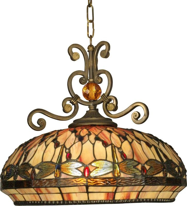 Dale Tiffany Th10097 Briar Dragonfly Tiffany Antique Golden Sand In Dale Tiffany Pendant Lights (View 2 of 15)