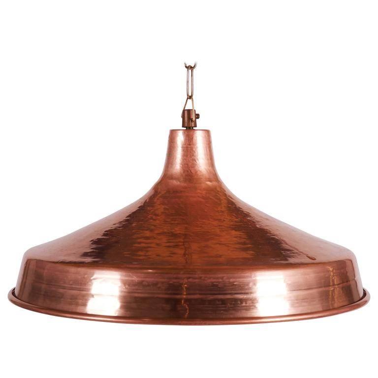 Danish Hammered Copper Pendant Light, 1950S For Sale At Pamono Regarding Hammered Copper Pendant Lights (#12 of 15)