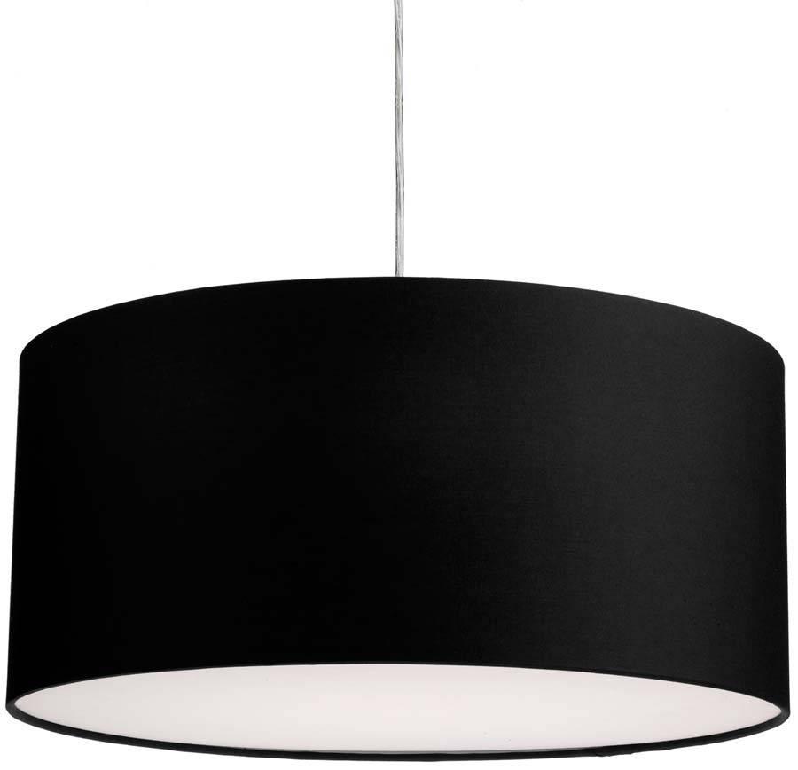 Dar Almeria 50Cm Black Drum Pendant Lamp Shade Alm2022 With Black Drum Pendant Lights (#5 of 15)