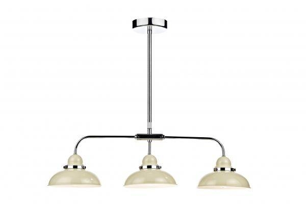 Dar Lighting Dynamo 3 Light Bar Pendant Ceiling Fitting Gloss With Regard To 3 Lights Pendant Fitter (View 5 of 15)