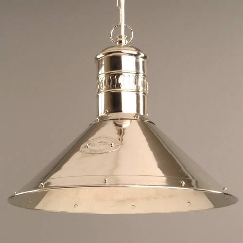 Deck Lamp Pendant Light In Nickel | Lighting Enlightenment Throughout Edwardian Pendant Lights (View 10 of 15)