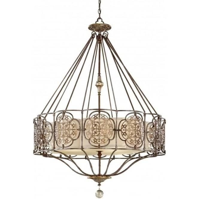 Decorative Bronze Fretwork Chandelier Style Ceiling Pendant Light Inside Edwardian Pendant Lights (View 3 of 15)