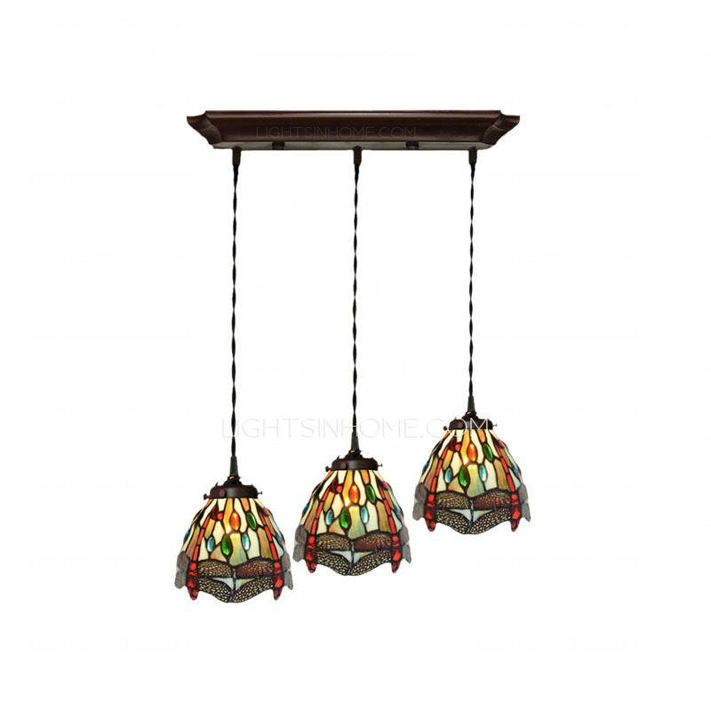 Decorative Dragonfly Pattern Stained Glass Tiffany Pendant Lights In Stained Glass Pendant Lights (#3 of 15)