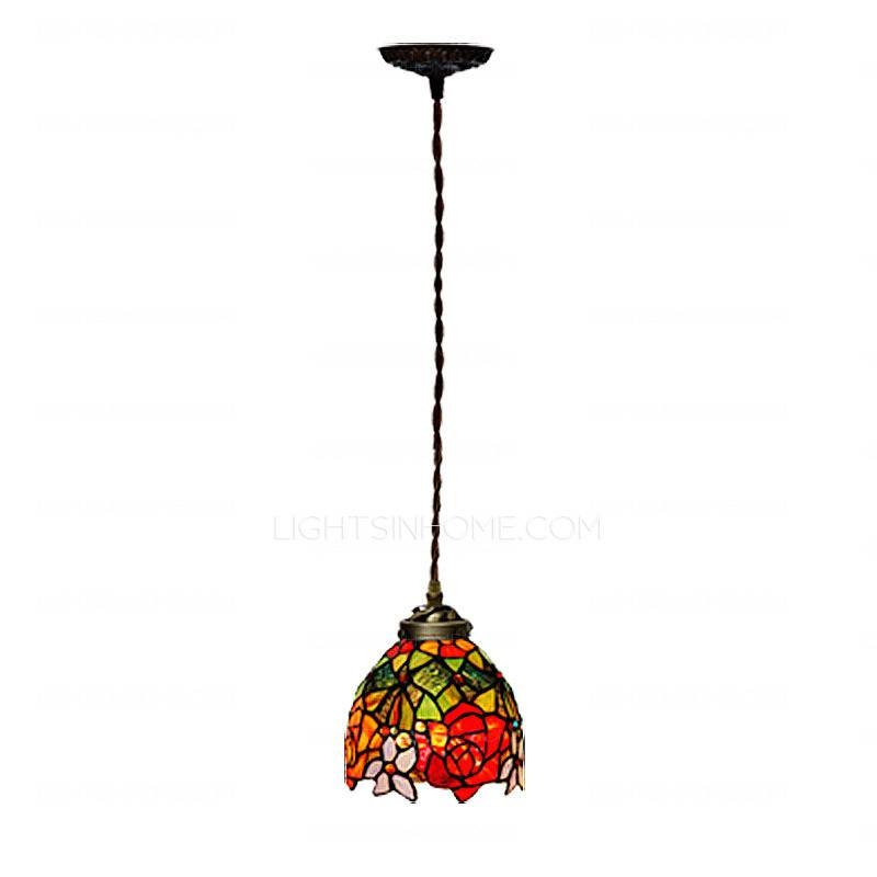 Decorative Stained Glass Shade Tiffany Pendant Lighting Throughout Stained Glass Pendant Lights (#4 of 15)