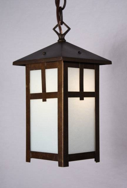 Delightful Antique Brass Arts & Crafts Lantern Pendant Light Pertaining To Arts And Crafts Pendant Lights (#9 of 15)