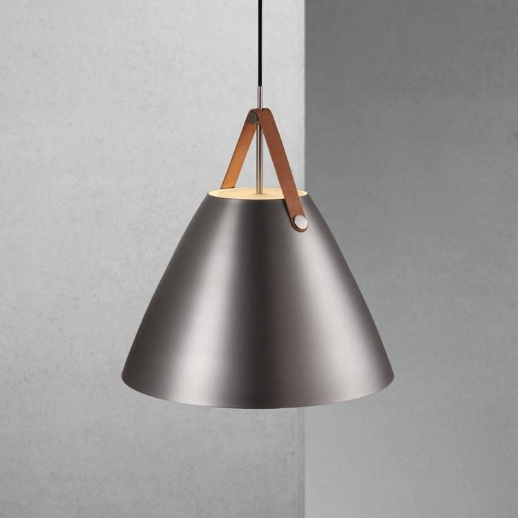 Dftp Nordlux Strap 48 Ceiling Pendant Light – Brushed Steel With Brushed Steel Pendant Lights (#4 of 15)