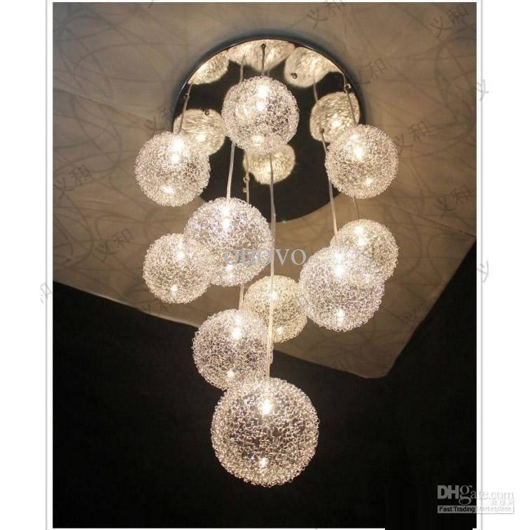 Discount 10 Heads Glass Aluminum Wire Glass Balls Living Room Inside Glass Orb Lights (#5 of 15)