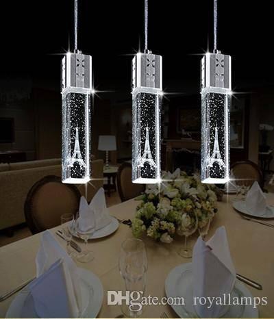 Discount 2015 New Fashion Led Lamp Crystal Pendant Lights Tower Inside Crystal Pendant Lights (View 6 of 15)