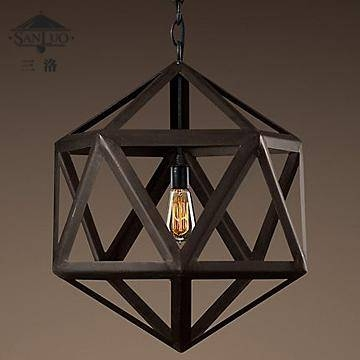 Discount American Antique Wrought Iron Pendant Lamp Birdcage Regarding Wrought Iron Lights Pendants (#6 of 15)