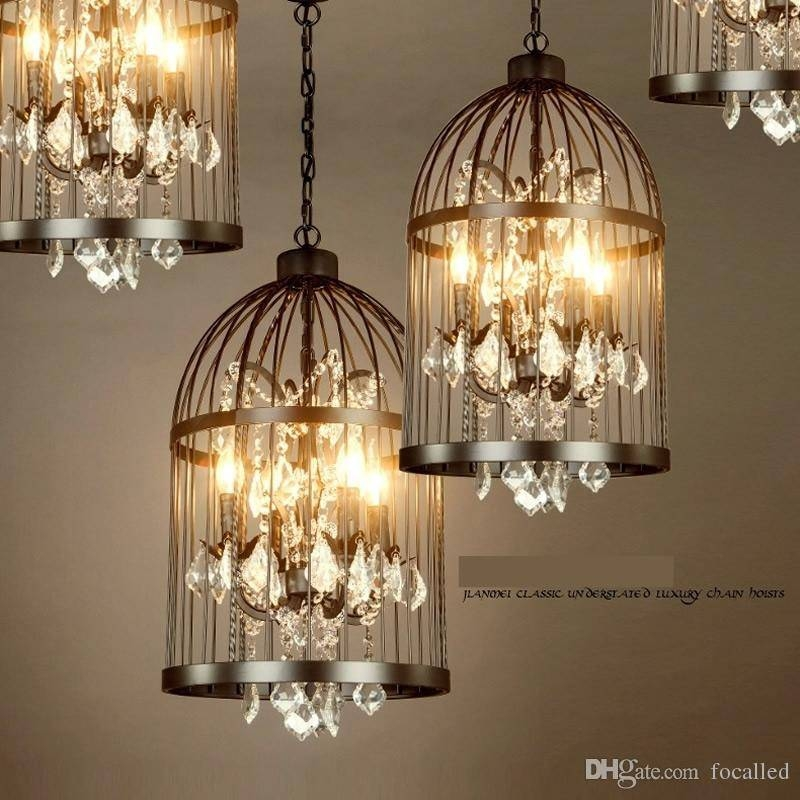 Discount American Ault Do The Old Vintage Wrought Iron Chandelier In Birdcage Lights Fixtures (#8 of 15)