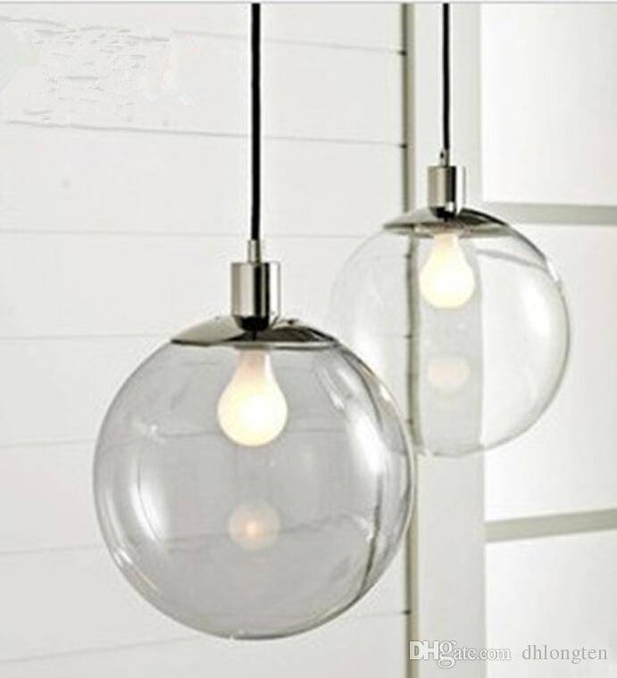 Discount Fashion Lamp Scandinavian Minimalist Glass Ball Pendant Within Glass Sphere Pendant Lights (#7 of 15)