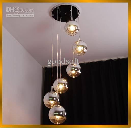 Discount Fumat Modern Semi Chrome Mirror Ball Chandelier Living Within Disco Ball Pendant Lights (#7 of 15)