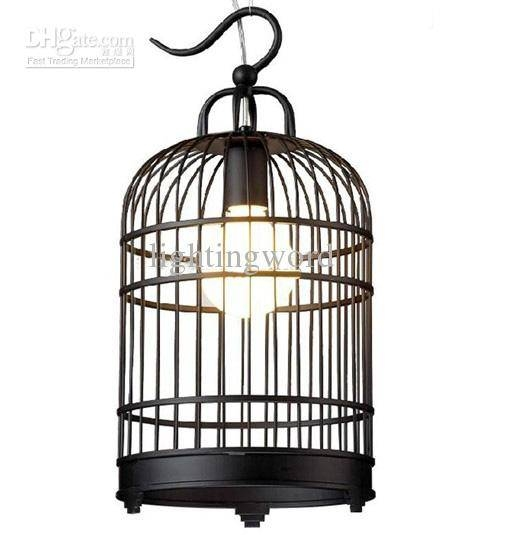 Discount Hot Selling Modern Fashion Black White Iron Birdcage Pertaining To Birdcage Pendant Lights (#12 of 15)