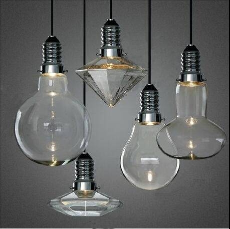 Discount Led 3W Modern Creative Glass Pendant Lights Crystal Inside Led Pendant Lights (#3 of 15)