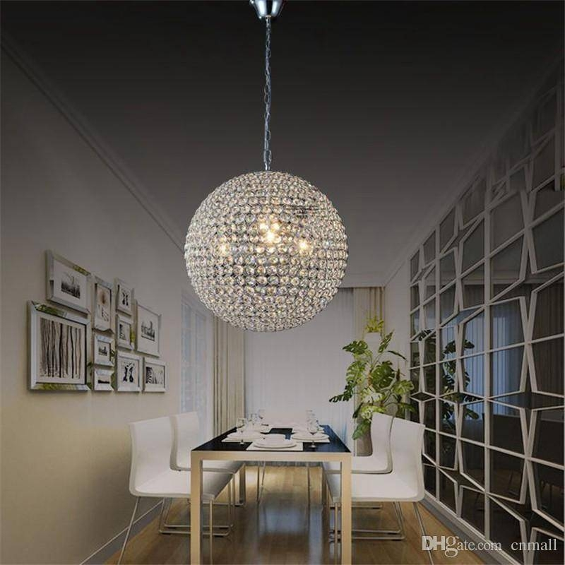 Discount Led Crystal Ball Lighting Crystal Pendant Lights Intended For Luxury Pendant Lights (#3 of 15)