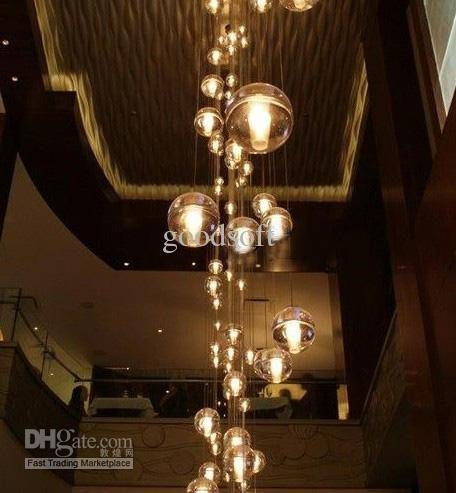 Inspiration about Discount Led Crystal Glass Pendant Light Meteoric Shower Stair Intended For Stairwell Lighting Pendants & Viewing Photos of Stairwell Lighting Pendants (Showing 11 of 15 Photos)