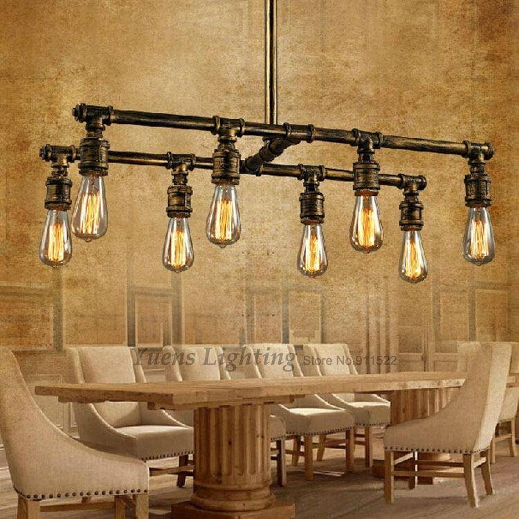 Discount Loft Industrial Pipe Pendant Lights Silk Retro Style Cafe Intended For Industrial Looking Lights Fixtures (View 8 of 15)