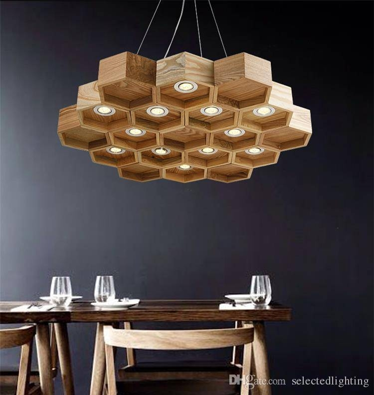 15 photo of honeycomb pendant lights for Ceiling lamp wood