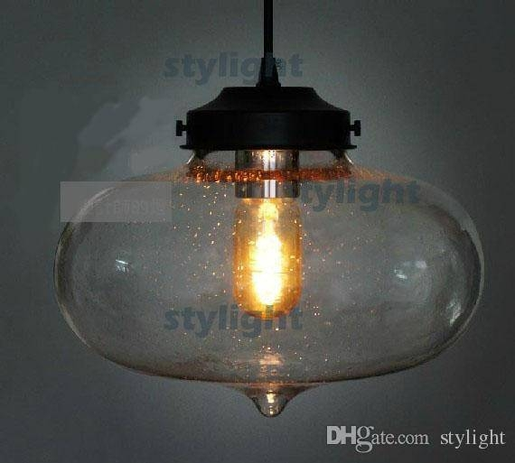 Discount Minaret Bubble Pendant Light Vintage Glass Pendant Lamp In Bubble Glass Pendant Lights (#10 of 15)