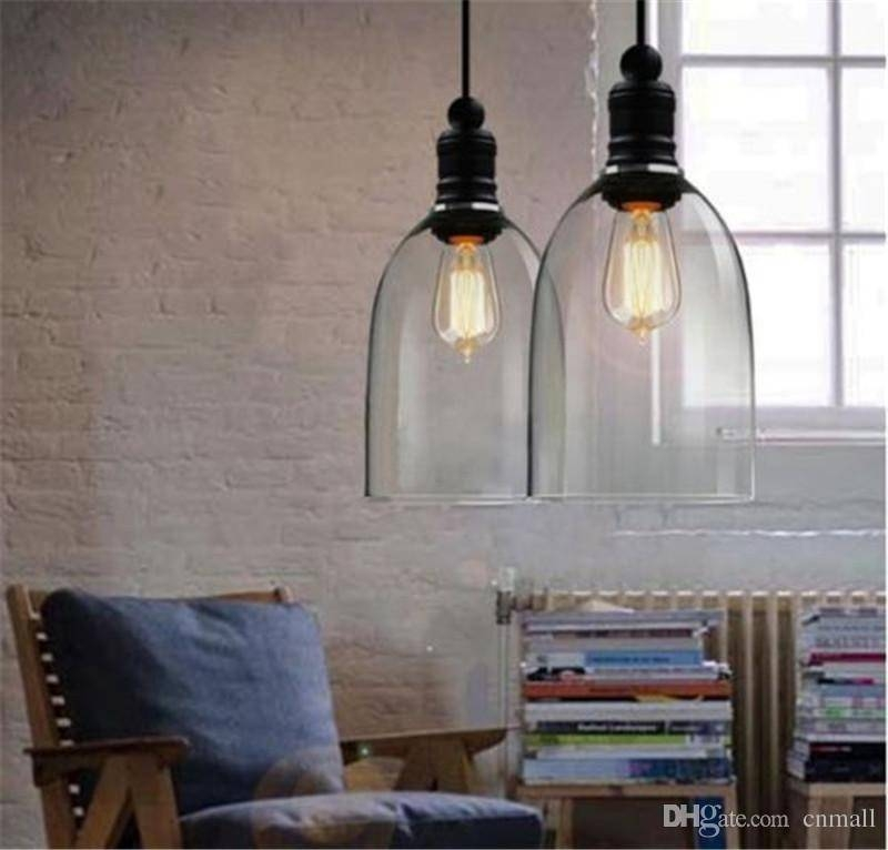 Discount Modern Crystal Bell Glass Pendant Lights Glass Hanging Inside Cheap Pendant Lighting (#7 of 15)