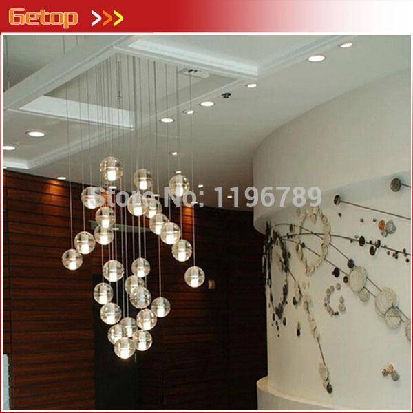 Discount Modern Crystal Pendant Lights Fixtures Magic Crystal Ball With Regard To Pendant Lights Stairwell (#5 of 15)