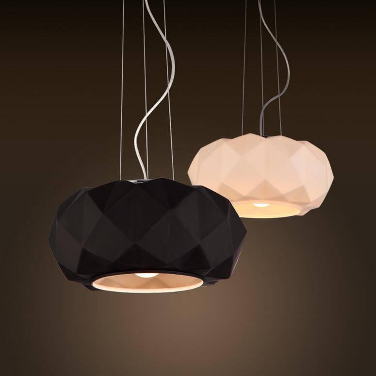 Discount Modern Diamond Pendant Lamp Murano Deluxe Black/white Pertaining To Murano Lights Fixtures (#4 of 15)