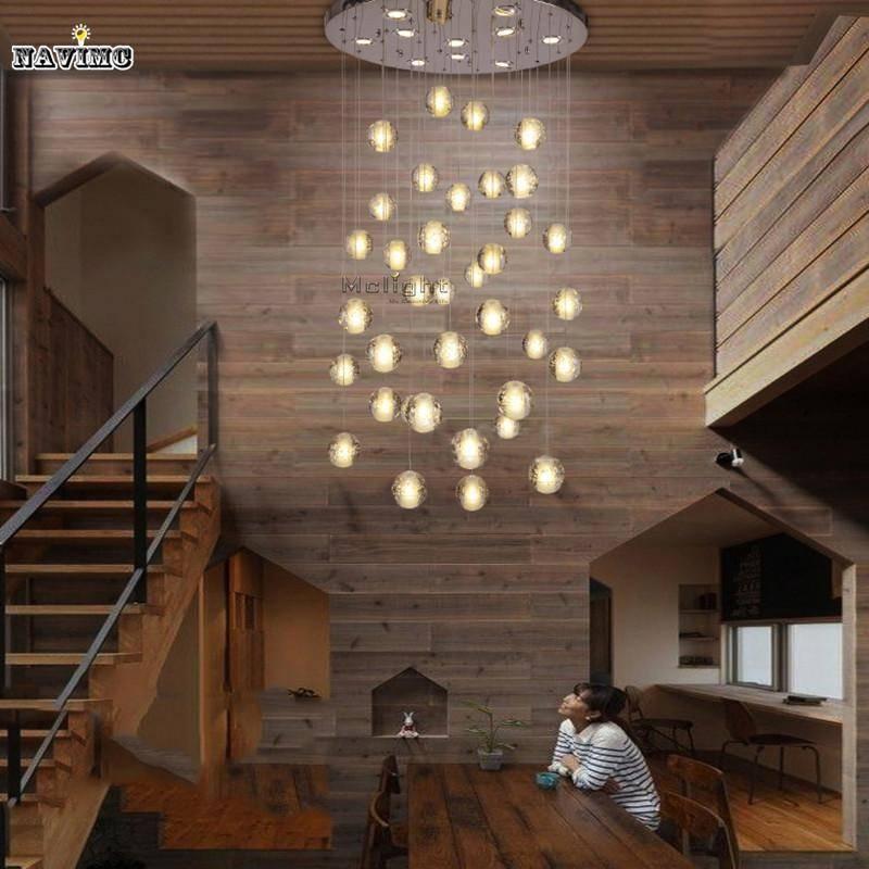 Discount Modern Led Crystal Pendant Lights Fixtures Magic Crystal With Pendant Lights For Stairwell (#7 of 15)