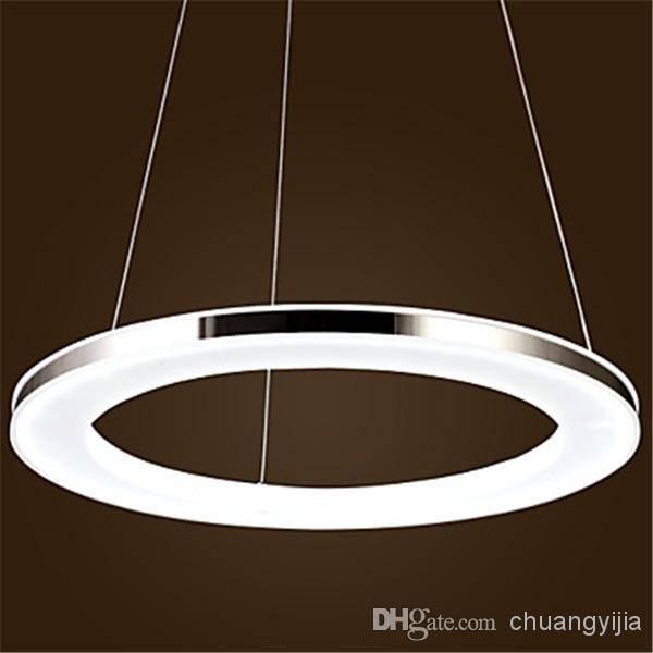 Discount Modern Led Round Acrylic Pendant,1 Light Pendant Light Inside Led Pendant Lights (View 6 of 15)