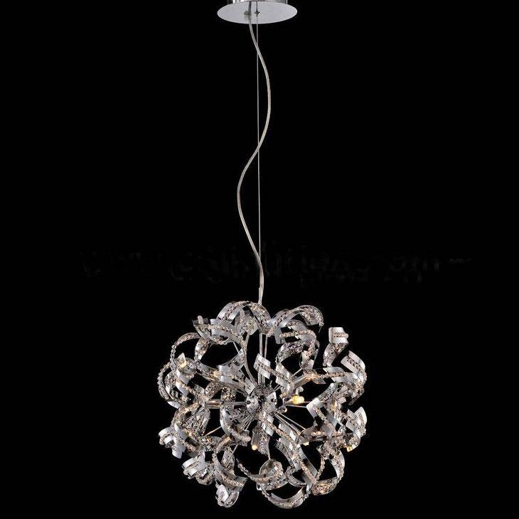 Discount Modern Luxury Pendant Lamp K9 Crystal Ball Chandelier Throughout Luxury Pendant Lights (#5 of 15)