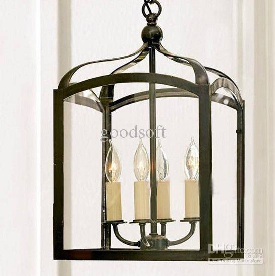 Discount Modern Nordic Minimalist Black Iron Birdcage Chandelier Regarding Birdcage Pendant Light Chandeliers (#10 of 15)