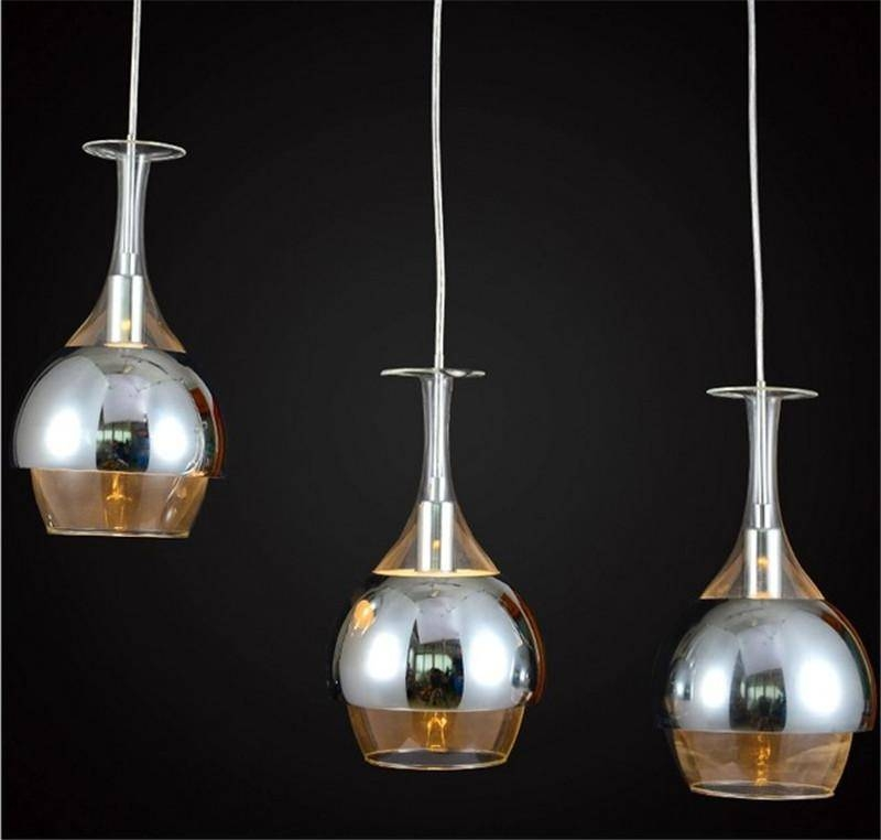 Popular Photo of Wine Glass Pendant Lights