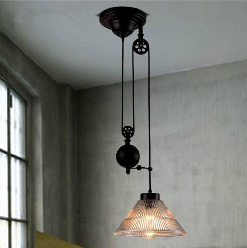 Discount New Modern Loft Vintage Edison Industrial Pulley Pendant Throughout Pulley Adjustable Pendant Lights (View 13 of 15)