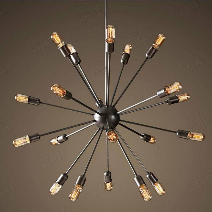 Discount Satellite Chandeliers Vintage Wrought Iron Pendant Light In Wrought Iron Light Pendants (View 11 of 15)
