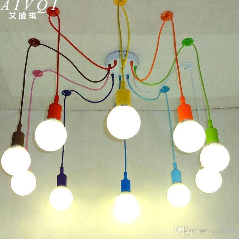 Discount Silicone Colorful Pendant Lights Diy Multi Color E27 Bulb Inside Diy Multi Pendant Lights (#6 of 15)