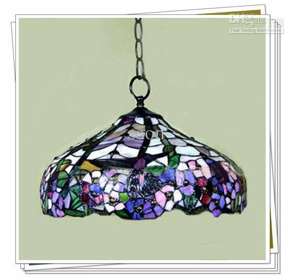 Discount Tiffany Style Elegant Stained Glass Pendant Light Throughout Stained Glass Pendant Light Patterns (View 11 of 15)