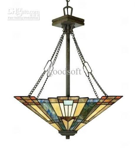 Discount Tiffany Style Stained Glass Pendant Light With 2 Lights Pertaining To Stained Glass Pendant Lights (#5 of 15)