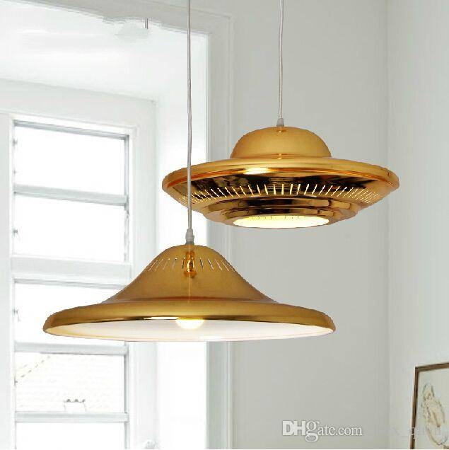 Discount Ufo Gold Pendant Lights American Style Drop Light Wrought For Luxury Pendant Lights (#6 of 15)