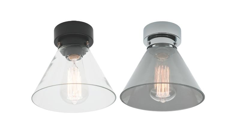 Diy Batten Fix Shade Smoke Or Clear Glass Mercator Ma9371 Pertaining To Batten Fix Lights Shades (#7 of 15)