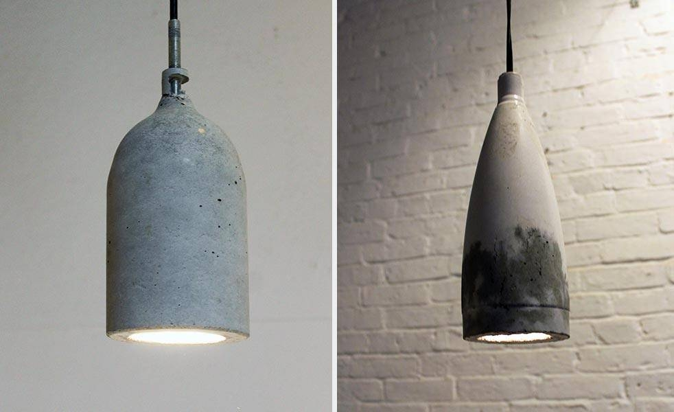 Diy: Concrete Pendant Lamp 8/1/2014   Cool Material Throughout Diy Concrete Pendant Lights (#7 of 15)
