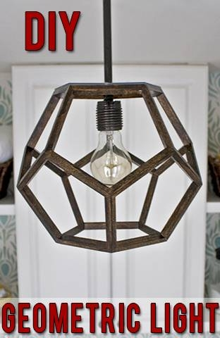 Diy Dodecahedron Pendant Light {and An Announcement!!} Intended For Dodecahedron Pendant Lights (View 3 of 15)